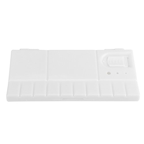 Foldable 24 Pieces Square Plastic Paint Palette DIY Crafts Tray Watercolor Storage Box Acrylic Oil Painting Tool