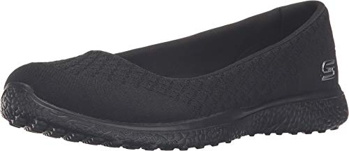 Skechers Sport Women's Microburst One up Fashion Sneaker,Black,8.5 M US