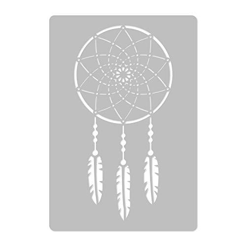 Wiederverwendbare Wandschablone aus Kunststoff // 45x65cm // Traumfänger // Muster Schablone Vorlage