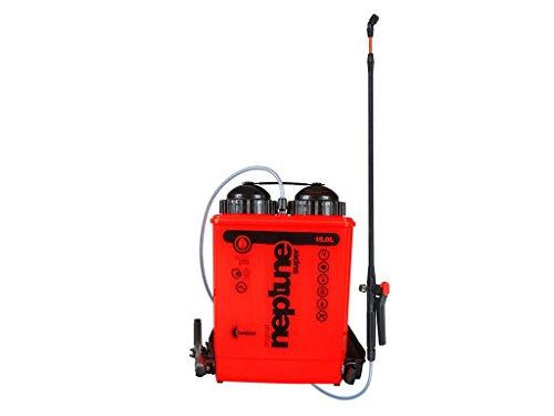 Kwazar 20010009 NPTUNE Super-Pulverizador de Espalda (15 L, para jardín, fitosanitarios, pesticidas, Resistente a Productos químicos), Rojo, 20x38x50 cm