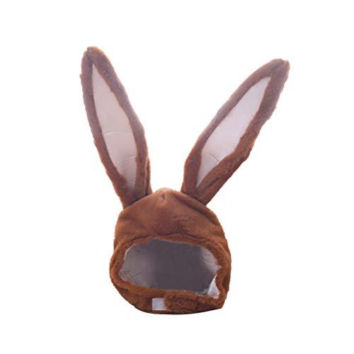 SOIMISS Kaninchen Ohren Hut Neuheit Lustige Plüsch Hase Ohren Kappe Kopfbedeckung Neujahr Geburtstag Ostern Karneval Fasching Kaninchen Cosplay Kostüm Foto Booth Requisiten Braun