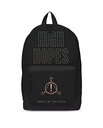 Panic At The Disco Backpack Bag High Hopes Band Logo Nue offiziell Schwarz