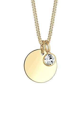 Elli Halskette Elli Damen Halskette Geburtsstein April mit Swarovski Kristallen in 925 Sterling Silber