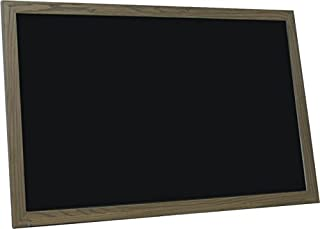 billyBoards 30x48 chalkboard. Rustic brown frame finish. School style. With chalk tray. Wood composite writing panel- black. 1.5