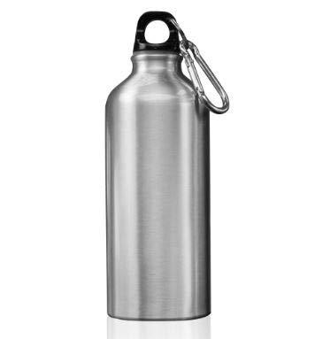 BPA-freie Edelstahl-Trinkflasche - isolierte Metall-Trinkflasche für kaltes Wasser oder Getränke, kein Rost, kratzfest, keine Dellen, für Reisen, Fitnessstudio, Schule, Arbeit, grau, fl-oz