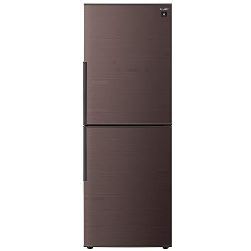 シャープ 冷蔵庫 280L(幅56cm) プラズマクラスター搭載 2ドア メガフリーザー ブラウン系 SJ-PD28E-T