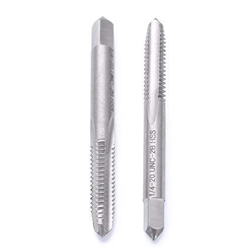 WillBest 1pc 1/4-20 UNC-2B Right Hand Tap HSS Spiral Point Straight Flute Thread Drill Screw Tap 70mm