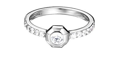 ESPRIT Damen-Ring JW52890 925 Silber rhodiniert Zirkonia transparent