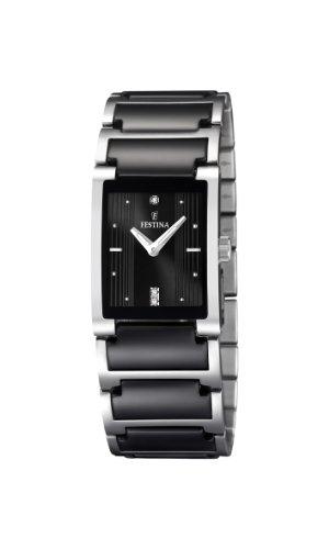 Festina Damen Analog Quarz Uhr mit Keramik Armband F16536/2
