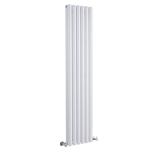Hudson Reed Vitality – Radiateur Design Vertical – Blanc – 178 x 35,4cm Double Rang