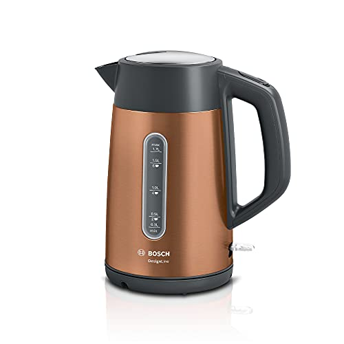 Bosch TWK4P439GB Cordless 1.7 Litre Kettle, Stainless Steel, 3000 W, 1.7 liters, Copper
