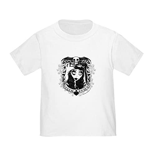 CafePress Corpse Bride Emily Skull Heart Fra Toddler T Shirt Cute Toddler T-Shirt, 100% Cotton White