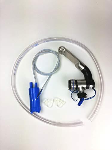 12V Tauchpumpe 10L/min + 12Volt Automatikwasserhahn Barwig Chrom + 1 Meter Frischwasserschlauch + 2X Clip (ad-ideen)