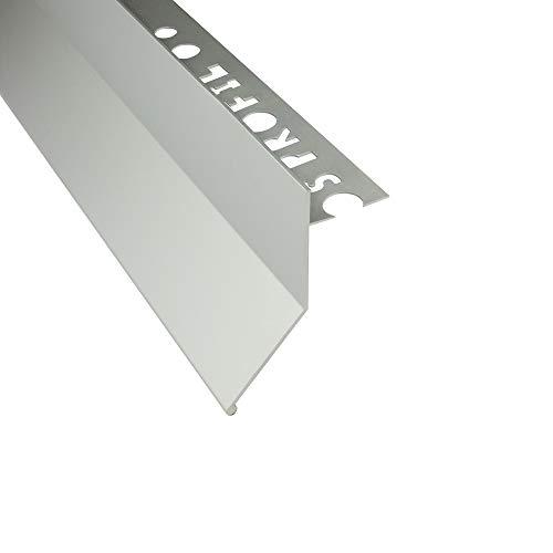 Alu Balkon Terrasse abtropf Profil Fliesenschiene Profil Schiene silber L300cm L-Profil 10mm lange Blende
