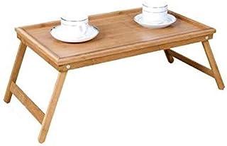 EM Home Bandeja para Cama Plegable, Mesa Desayuno con Patas Plegables (BAMBÚ)