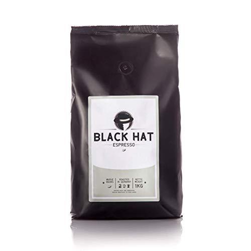 BLACK HAT ESPRESSO – Premium Espresso-Bohnen – stark & säurearm – 250 g ganze Bohnen für Kaffee-Vollautomaten & Siebträger