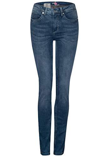 Street One Damen York Slim Fit Jeans, deep Blue Acid Washed, W31/L30