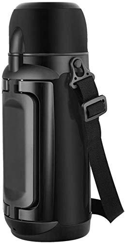 Taza De Aislamiento De La Jarra De Vacío, Taza De Aislamiento Del Hogar De Acero Inoxidable Al Vacío Para La Botella De Viaje De Automóviles De Gran Capacidad De Termo Exterior 1,5 L(Color:Black)
