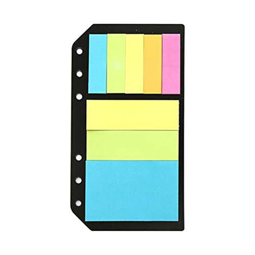 NUOBESTY 1pc Self-Stick Notes Loose-Leaf Classified Fluorescent Label Color N Times Bookmark Sticker Index Stickers for Label Book