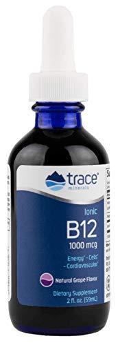 Trace Minerals Liquid Ionic B12 1,000 mcg Supplement, 2 Ounce