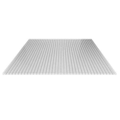 Stegplatte | Hohlkammerplatte | Doppelstegplatte | Material Acrylglas | Breite 1200 mm | Stärke 16 mm | Farbe Glasklar