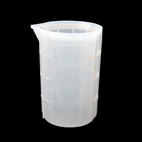 zhiwenCZW 750 ml Silikon-Messbecher Epoxidharz-Becher Silikon-Mischbecher Gießformen für Slime Art Waxing Kitchen Lab Tools