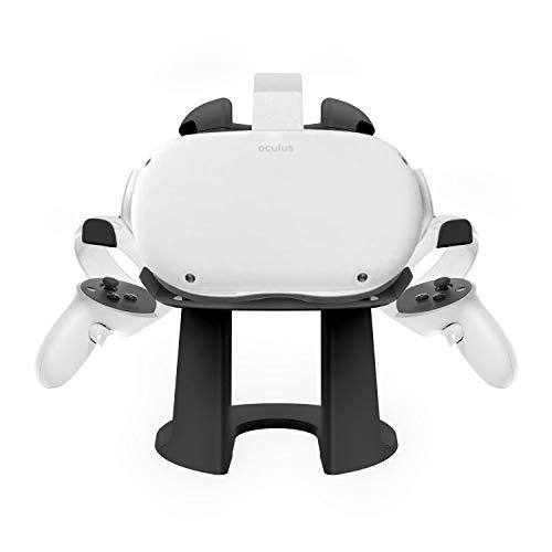AMVR VR Auricular y controladores táctiles, soporte de pantalla para casco y mango soporte de soporte para Oculus Quest 2 (negro) (Electrónica)