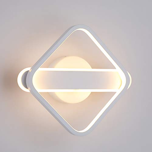 Luz De Pared Lámpara De Pared Blanca De Aluminio Y Acrílico Luz Interior 29W 3000K Plaza Para Lámpara De Diseñador Dormitorio Herramientas Oficina Sala De Estar Estudio De La Calle