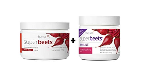 HumanN Immune Health & Blood Pressure Support Bundle | SuperBeets Circulation Superfood Concentrated Beet Powder and SuperBeets Immune, SuperBeets Black Cherry + SuperBeets Immune Bundle Set