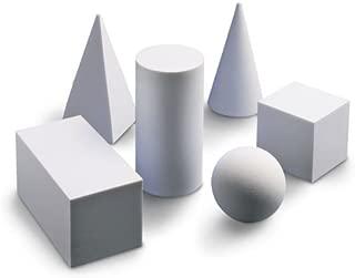 Nasco 9725407 Foam Geometric Solids Set, Six-Piece, White