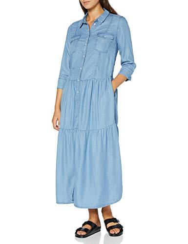 Silvian Heach Dress Denim Euphrate Vestito, Blu (J.Blue Lig J.Blue Lig), Large (Taglia Produttore:L) Donna