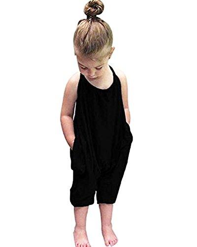 Kidsform Mädchen Straps-Overall Age 4-5Y schwarz