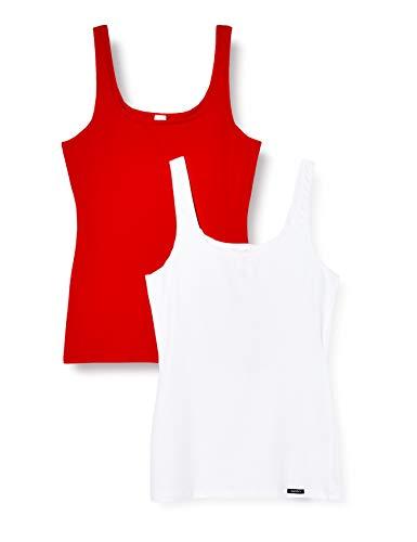 Skiny Damen Tank Top 2er Pack Unterhemd, red Selection, 36