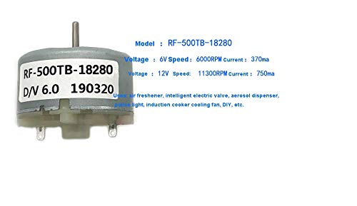 L-Yune,bolt 1pc RF500TB12560 14415 18280 Advertencia DC Motor Motor Luz Squirt humidificador 3V6V12V Motor Micro (tamaño : RF 500TB 18280)