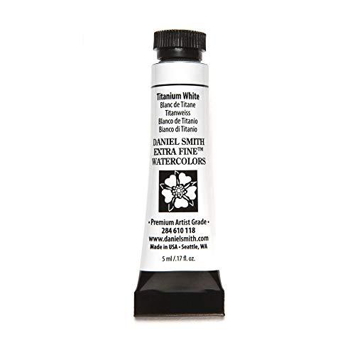 DANIEL SMITH Extra Fine Watercolor Paint, 5ml Tube, Titanium White, 284610118