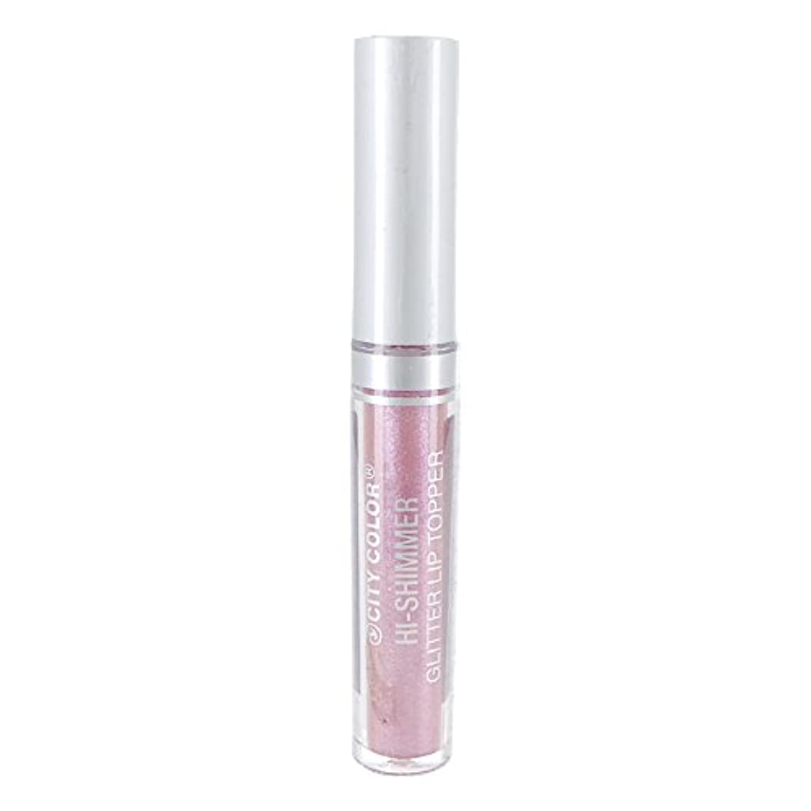 幸運な労苦カーフCITY COLOR Hi-Shimmer Glitter Lip Topper - Iridescent Pink (並行輸入品)