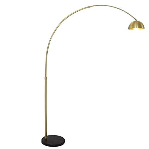 Lámpara de pie Torchier, Arquer Lámpara de piso, la luz del soporte de lectura for el dormitorio de la sala de la lámpara iluminación ascendente alto con base de mármol.Acabado Cobre mate