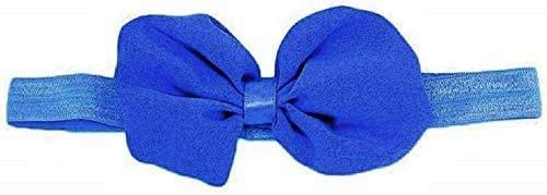 KIRALOVE - Cinta para el pelo de bebé con lazo, cinta de tul, elástica, para niña, accesorios azules.