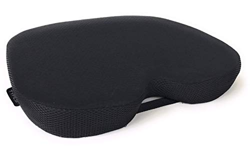 TypeS Deluxe Ergonomic Support Gel and Memory Foam Seat Cushion with Breathable Removable Cover by Winplus