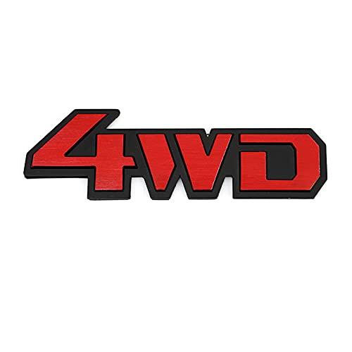DJ Home Embleme 3D Metall 4WD 4x4 Auto Fender Heckkoffer Emblem Abzeichen Aufkleber Abziehbilder Für VW Toyota Honda Mazda Ford Benz Audi BMW Buick Opel GMC Applikationen (Color Name : Red 4WD)