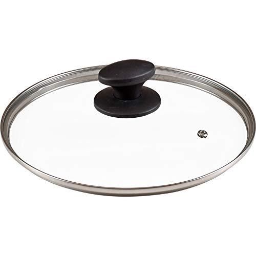 【Amazon.co.jp 限定】和平フレイズ ガラス蓋 24cm 全面物理強化 蒸気口付 AME-7190