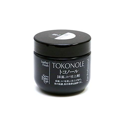 Seiwa Tokonole Leder-Finish, poliertes Gum, klar, 120 g, Schwarz