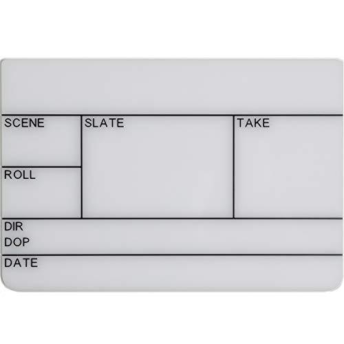 Filmsticks Clapperboard Acryl Board Maat: Klein, voor gebruik met Kleine Clappersticks