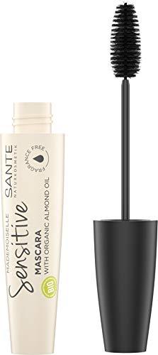 SANTE Naturkosmetik Mademoiselle Sensitive Mascara 01 Black, Schwarze Wimperntusche, Volumen & Länge, parfümfrei, Für empfindliche & sensible Augen, Vegan, 12ml