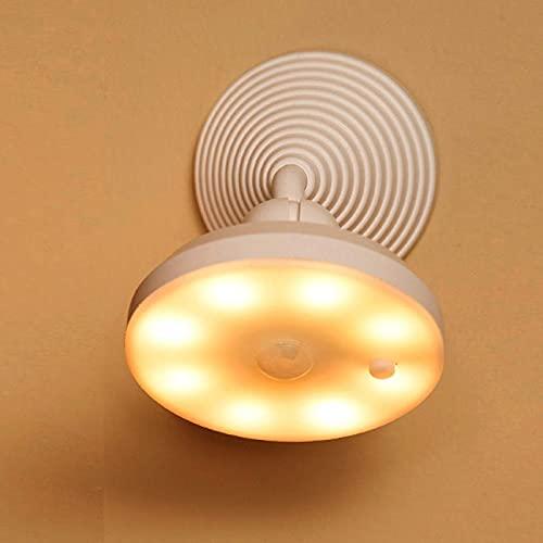 SFSGH Lámpara de cabecera de inducción Inteligente para el Cuerpo Humano, luz Nocturna con Sensor de Movimiento, 2 Unidades de luz de Pared giratoria 360 Recargable por USB para Armario,
