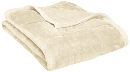 Northpoint Baroque Quilted Berber Reversible Throw Blanket, Ivory