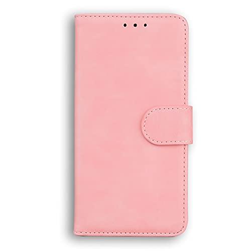 HICYCT Funda Xiaomi Mi 11 Lite, Anti-caída Flip Wallet Case Cover Carcasa Piel PU Billetera con Soporte Cierre magnético Ranuras para Tarjetas para Xiaomi Mi 11 Lite - Rosado
