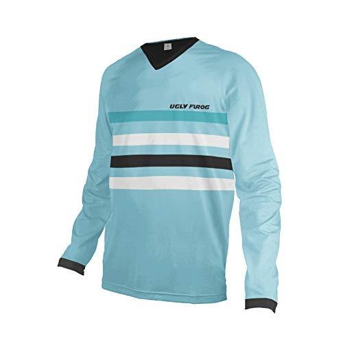 Uglyfrog Artikel Sport Cycling Element MX Jersey Enduro Cross Motorrad Motocross/MTB/Mountain Bike Wear Downhill Rundhals Shirt Herren Langarm Frühjahr Style