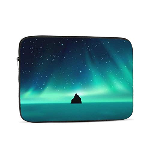 Laptop Sleeve Case 12 Inch Dark Rock Against Northern Lights Landscape Laptop Sleeve/notebook Computer Pocket Case/tablet Briefcase Carrying Bag