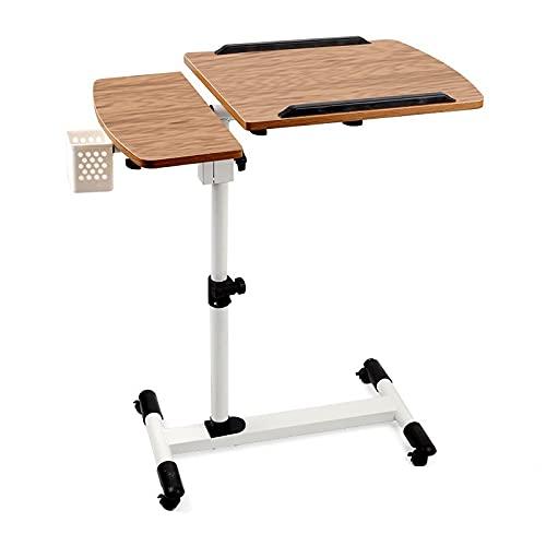 Flystcn Mesa Plegable de Bandeja portátil de la computadora portátil portátil de la mesita de Noche Plegable Ajustable TELEVISOR Bandeja para Comer Laptop y Uso Multiuso. (Color : Wooden)
